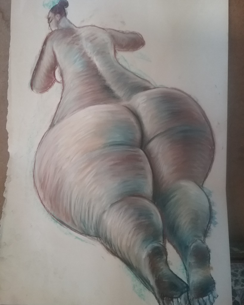 Charcoal/pastel on paper, Size: 74 x 54 cm Special COVID price: $650 unframed, $950 framed